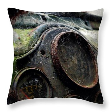 Throw Pillow featuring the photograph Abandoned by Micki Findlay