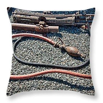 Abandoned Mine Jerome Arizona Throw Pillow by Bob and Nadine Johnston