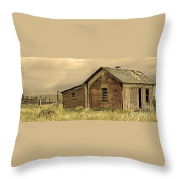 Throw Pillow featuring the photograph Abandoned by Nick  Boren