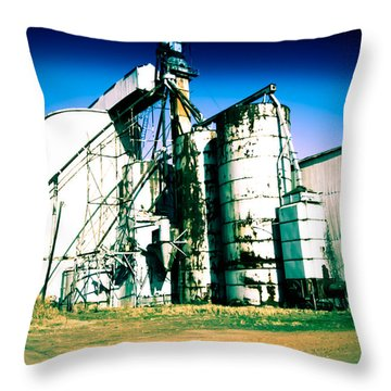 Abandoned Oil Mill Throw Pillow