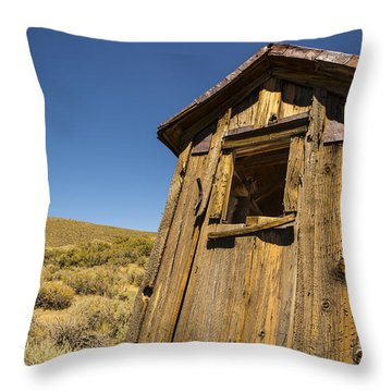 Abandoned Outhouse Throw Pillow