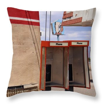 Abandoned Phone Booths Throw Pillow