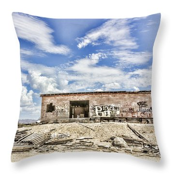 Throw Pillow featuring the digital art Abandoned by Photographic Art by Russel Ray Photos