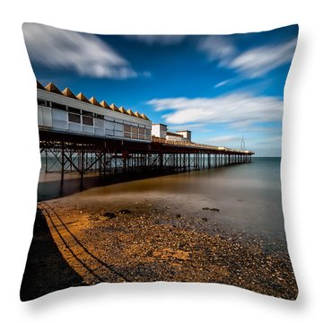 Abandoned Pier Throw Pillow by Adrian Evans