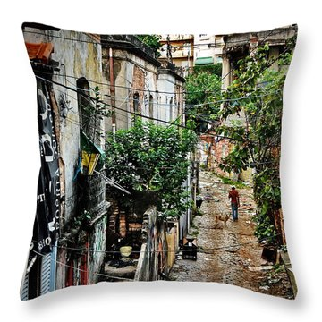 Abandoned Place In Sao Paulo Throw Pillow