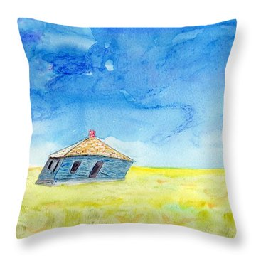 Abandoned Prairie Throw Pillow