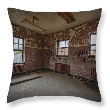 Abandoned Room At Letchworth Throw Pillow