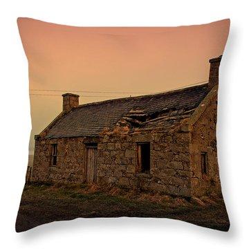 Abandoned Scottish Croft Throw Pillow