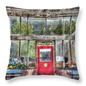 Abandoned Shop Throw Pillow