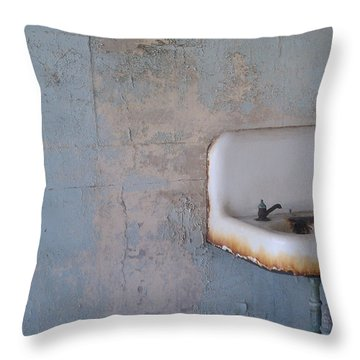 Abandoned Sink Throw Pillow