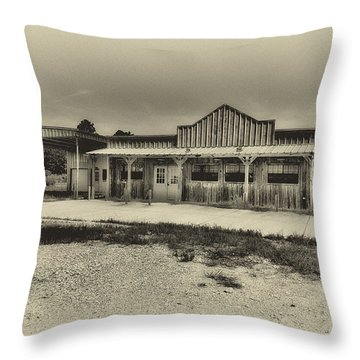 Abandoned Station Throw Pillow