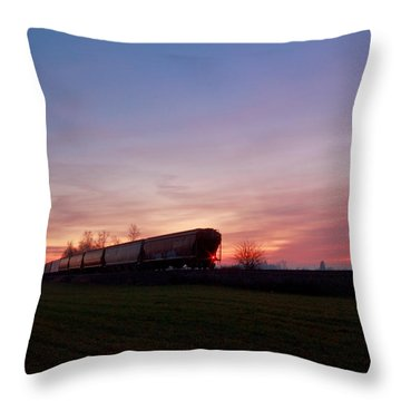 Throw Pillow featuring the photograph Abandoned Train  by Eti Reid