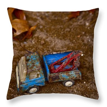 Abandoned Truck Throw Pillow by Xn Tyler