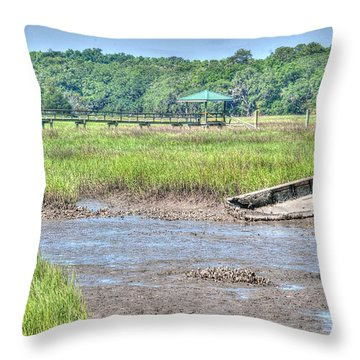 Abandoned Vessel Throw Pillow