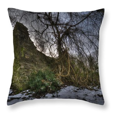 Abandoned Villages On Winter Time - Inverno Nei Paesi Abbandonati 02 Throw Pillow