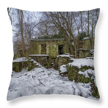 Abandoned Villages On Winter Time - Inverno Nei Paesi Abbandonati 05 Throw Pillow