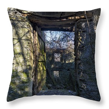 Throw Pillow featuring the photograph Abandoned Villages On Winter Time - Inverno Nei Paesi Abbandonati 08 by Enrico Pelos