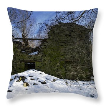 Throw Pillow featuring the photograph Abandoned Villages On Winter Time - Inverno Nei Paesi Abbandonati 09 by Enrico Pelos