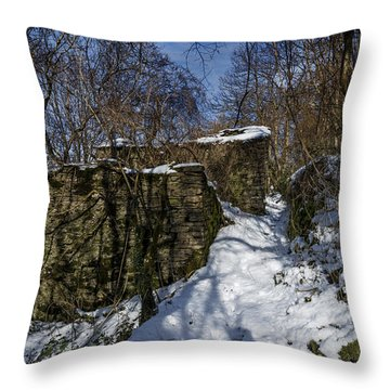 Abandoned Villages On Winter Time - Inverno Nei Paesi Abbandonati 10 Throw Pillow
