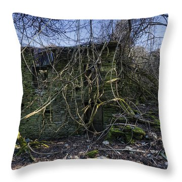 Abandoned Villages On Winter Time - Inverno Nei Paesi Abbandonati 12 Throw Pillow