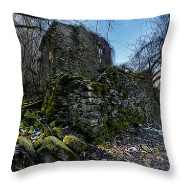 Throw Pillow featuring the photograph Abandoned Villages On Winter Time - Inverno Nei Paesi Abbandonati 13 by Enrico Pelos