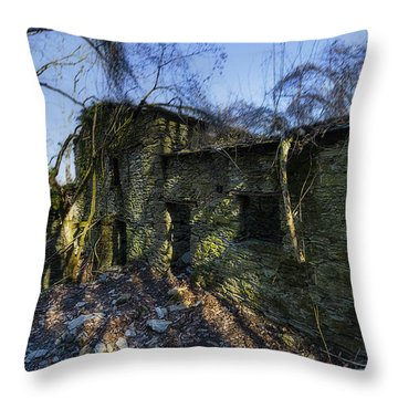 Abandoned Villages On Winter Time - Inverno Nei Paesi Abbandonati 14 Throw Pillow