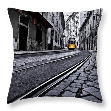 Abandoned Way Throw Pillow by Jorge Maia