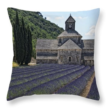 Abbaye De Senanque Throw Pillow