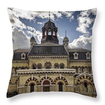 Abbey Mills Pumping Station Throw Pillow by Heather Applegate