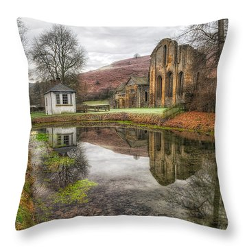 Abbey Reflection Throw Pillow by Adrian Evans