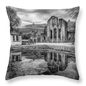 Abbey Reflections Throw Pillow by Adrian Evans