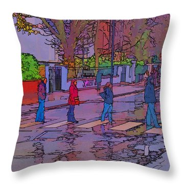 Abbey Road Crossing Throw Pillow by Chris Thaxter