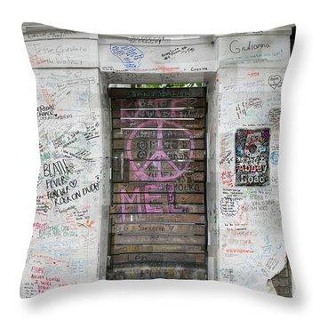 Abbey Road Graffiti Throw Pillow