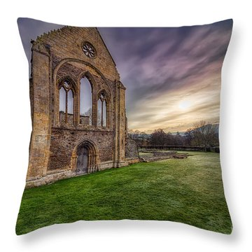 Abbey Ruins Throw Pillow by Adrian Evans