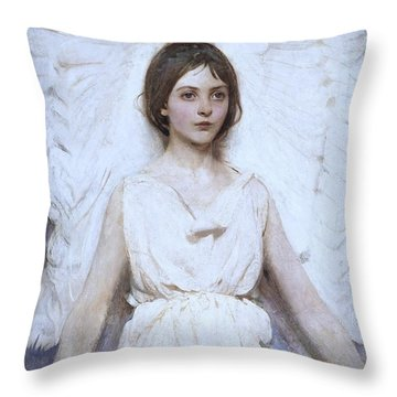Abbott Handerson Thayer Angel 1886 Throw Pillow