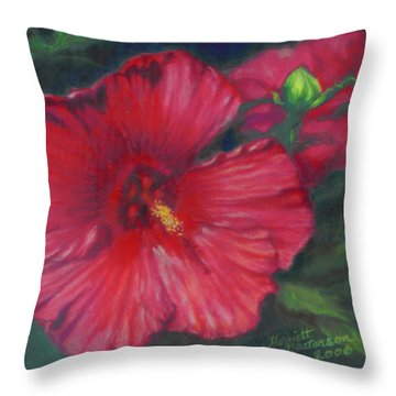 Abby Rose's Mallow Throw Pillow by Harriett Masterson