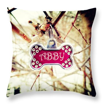 Abby Throw Pillow by Zinvolle Art