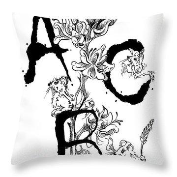 A B C  Throw Pillow