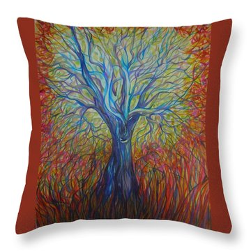 Throw Pillow featuring the drawing Abc Of Autumn by Anna  Duyunova