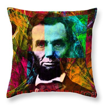 Abe The Broham Lincoln 20140217 Throw Pillow