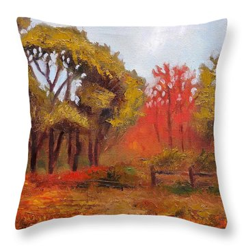 Abeel Fields Throw Pillow