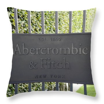 Abercrombie And Fitch Store In Paris France Throw Pillow
