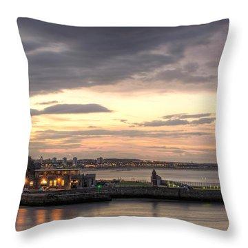 Aberdeen At Dusk Throw Pillow