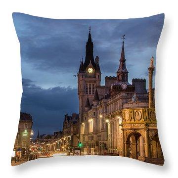 Aberdeen At Night Throw Pillow