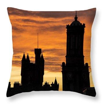 Aberdeen Silhouettes Throw Pillow