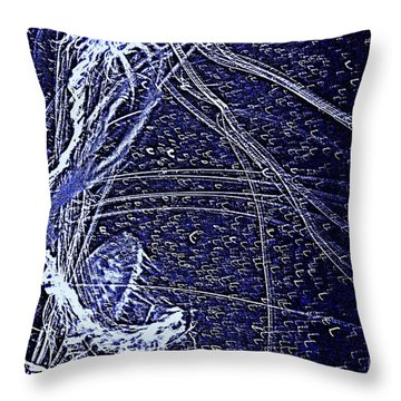 Throw Pillow featuring the photograph Aberration Of Jelly Fish In Rhapsody Series 3 by Antonia Citrino