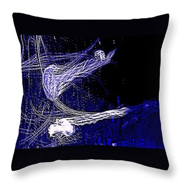 Throw Pillow featuring the photograph Aberration Of Jelly Fish In Rhapsody Series 4 by Antonia Citrino