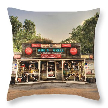 Abe's Grill - Fine Southern Food Throw Pillow
