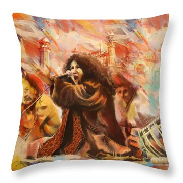 Abida Parveen Throw Pillow by Catf