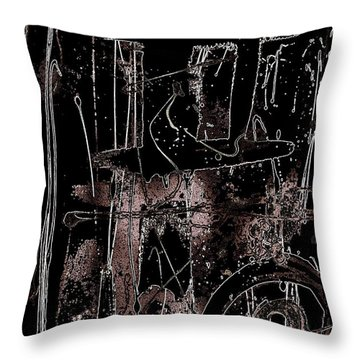 Throw Pillow featuring the painting Abidjan by Cleaster Cotton